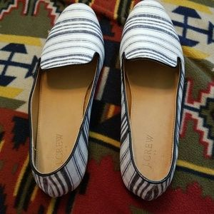 J. Crew     Striped flats   Worn once